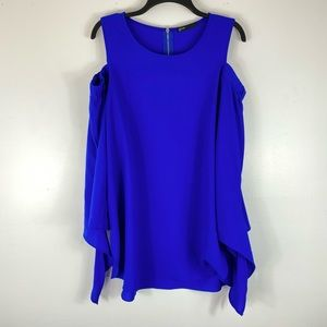 Gibson Royal Blue Off The Shoulder Blouse